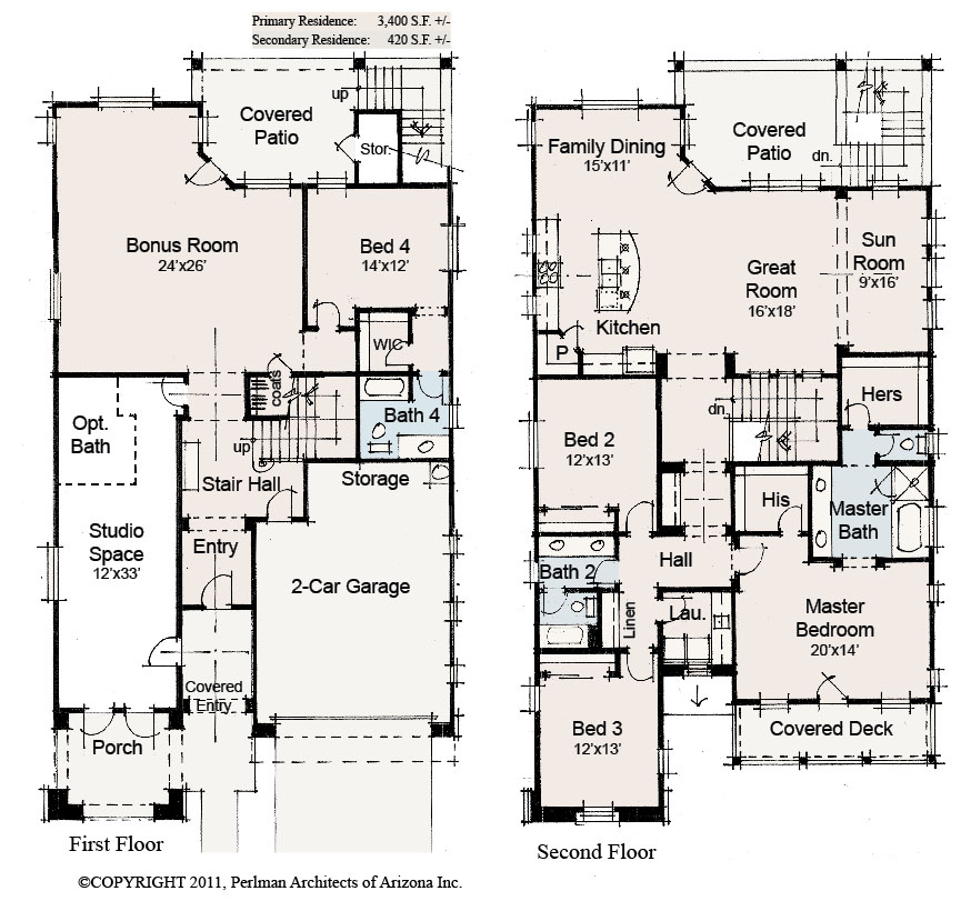 4075-1-eBiz-FloorPlans Master On Main Floor Plans For Meritage Homes on