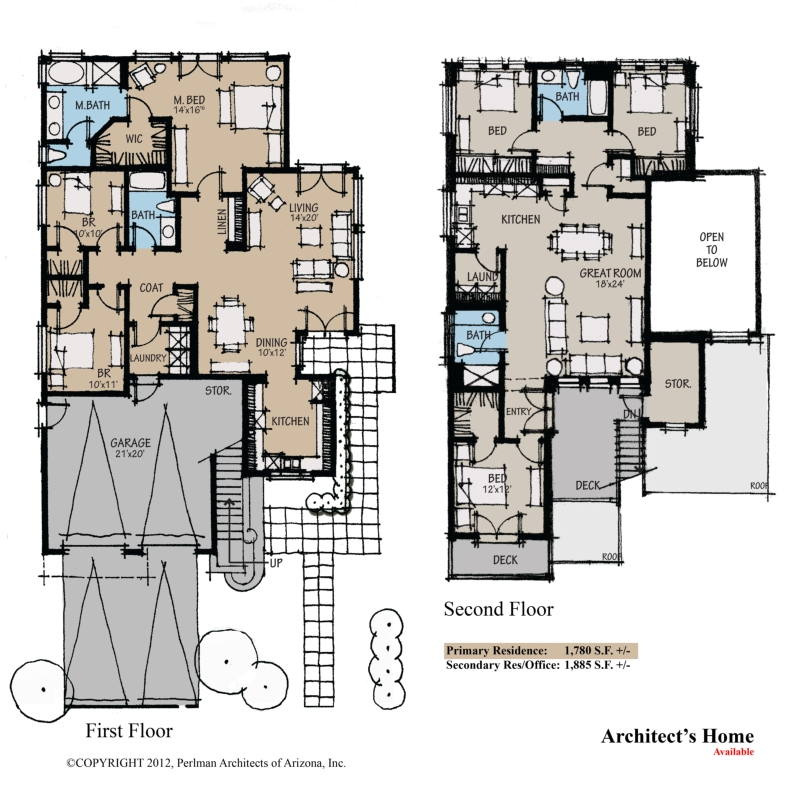 2gen flat House plans usa
