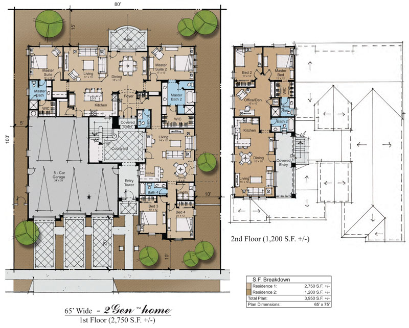 Hacienda Home Plans With Courtyard